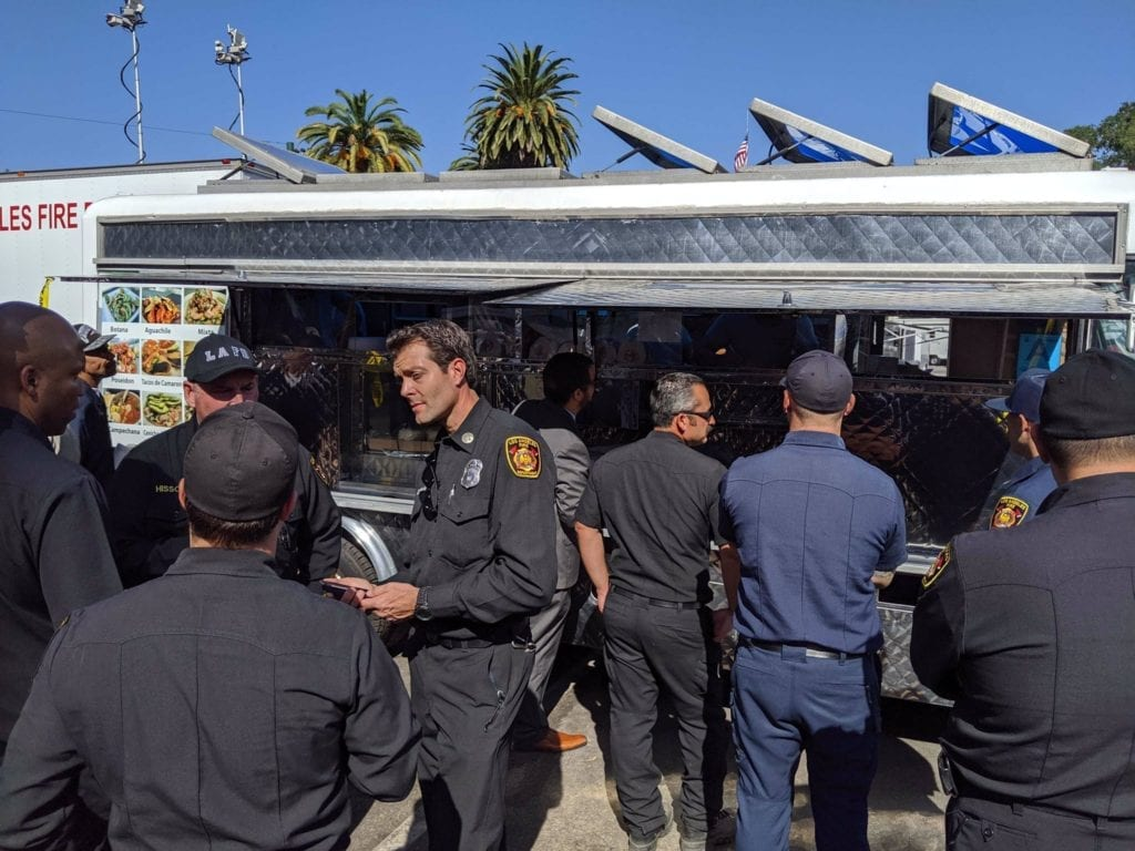LeBron James sends taco truck to help feed first responders and firefighters battling the Getty Fire