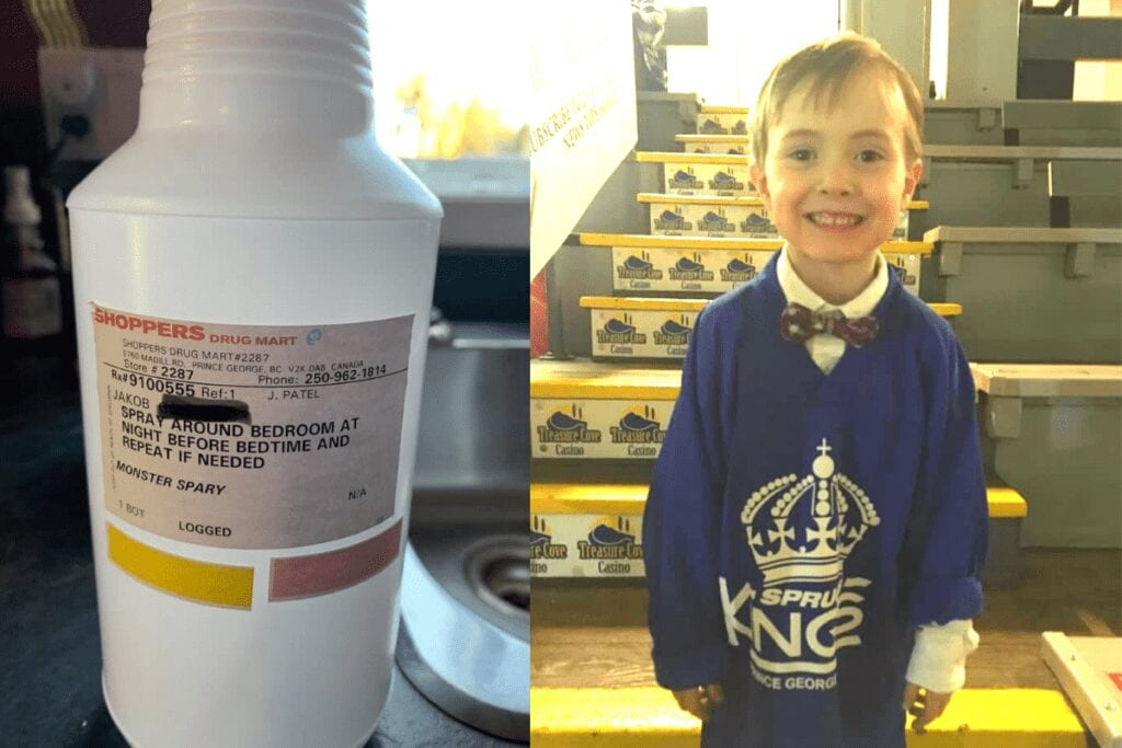 Mom and local pharmacist invent 'monster spray' to help 7-year-old fight the fear of monsters under his bed