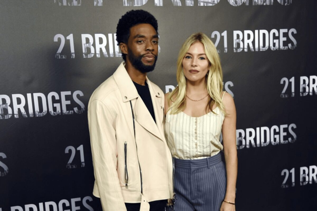 Chadwick Boseman cut his own salary to increase his costar Sienna Miller's pay on '21 Bridges'