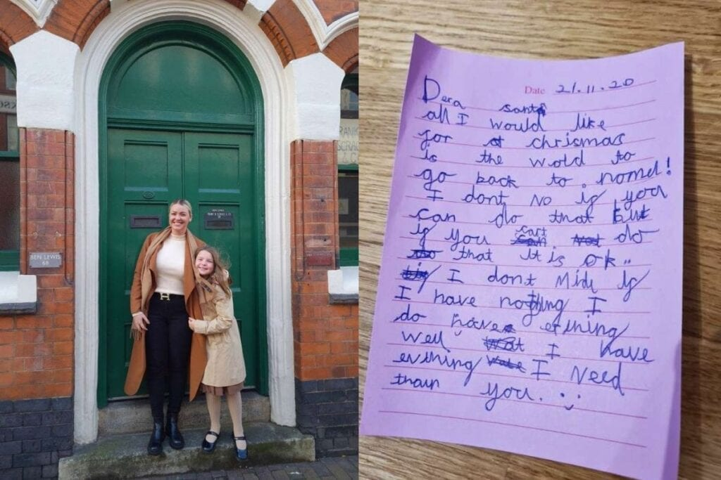 8-year-old girl writes heartwarming letter to Santa asking for things to return to normal.