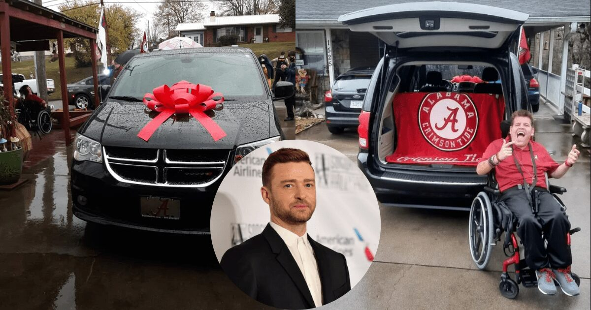 Justin Timberlake Donates Wheelchair-Accessible Van to Teen with Cerebral Palsy