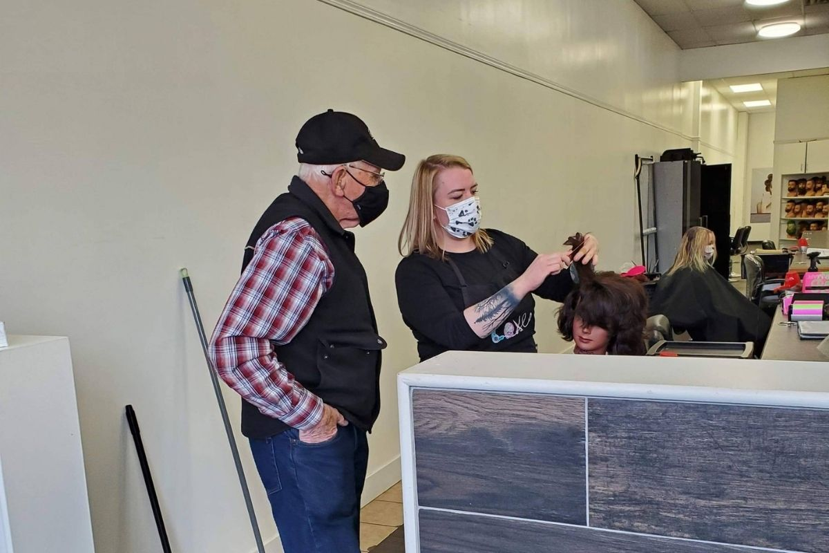 79-year-old man attends beauty school to learn how to do his wife's hair after her vision declined