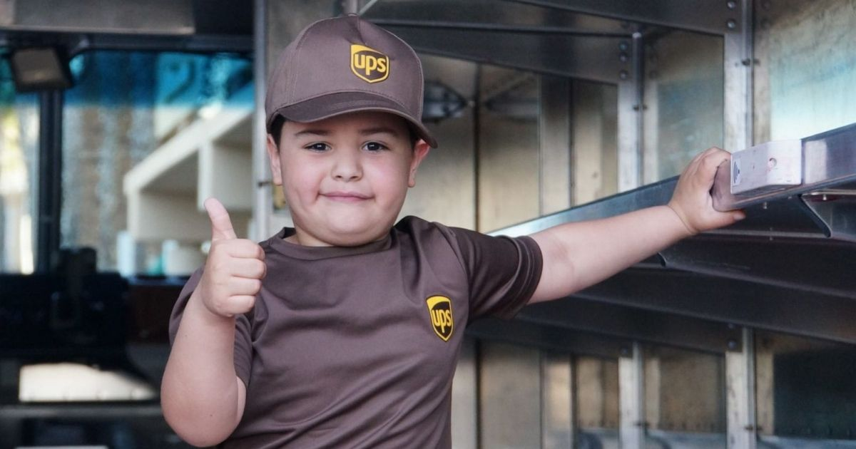 6-year-old with leukemia becomes world's youngest UPS driver
