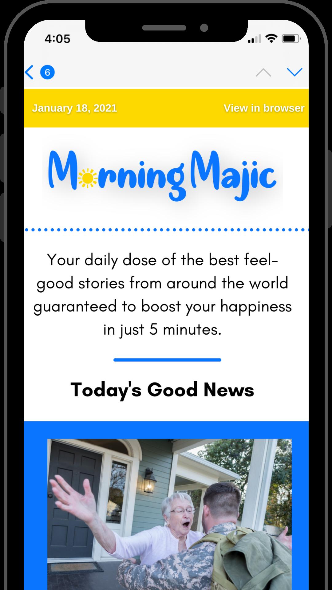 Morning Majic Newsletter